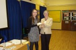 Katie Clark receiving award